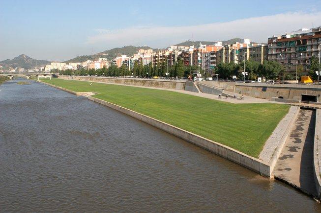 Tancat el Parc Fluvial del Besòs per temor d'una crescuda del riu