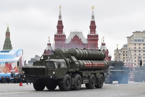Un misil S-400 ruso durante un desfile militar en Moscú.