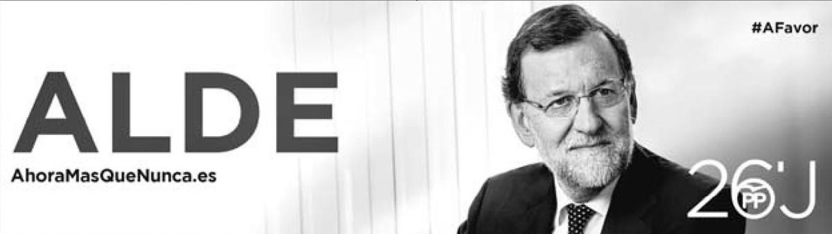 Anuncio electoral de Rajoy con el lema en euskera Alde, que significa largo, fuera de aquí.