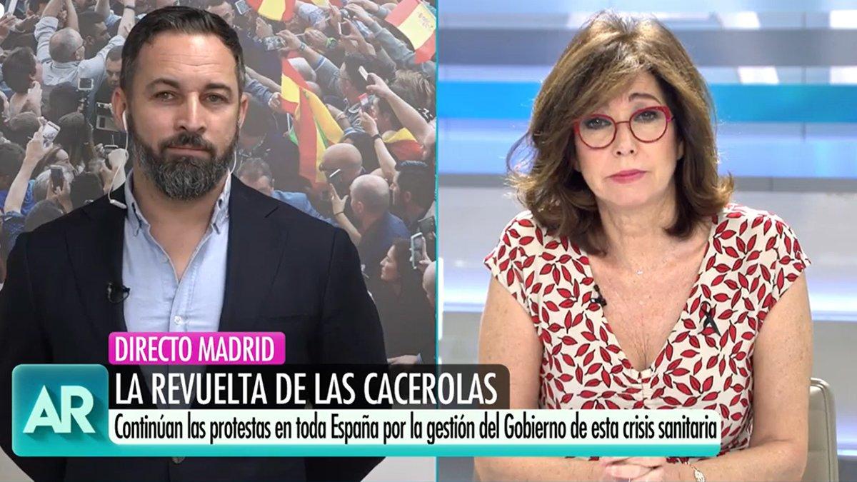"""La petición de Ana Rosa a Abascal por las manifestaciones: """"Hay que parar esto porque se va a desmadrar"""""""