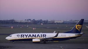 Un avión de Ryanair.
