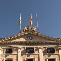 Façana de l'Ajuntamentde Sabadell, on no hi ha lesbanderes espanyola i europea des del 27 d'octubre, arran de la declaracióunilateral d'independència.