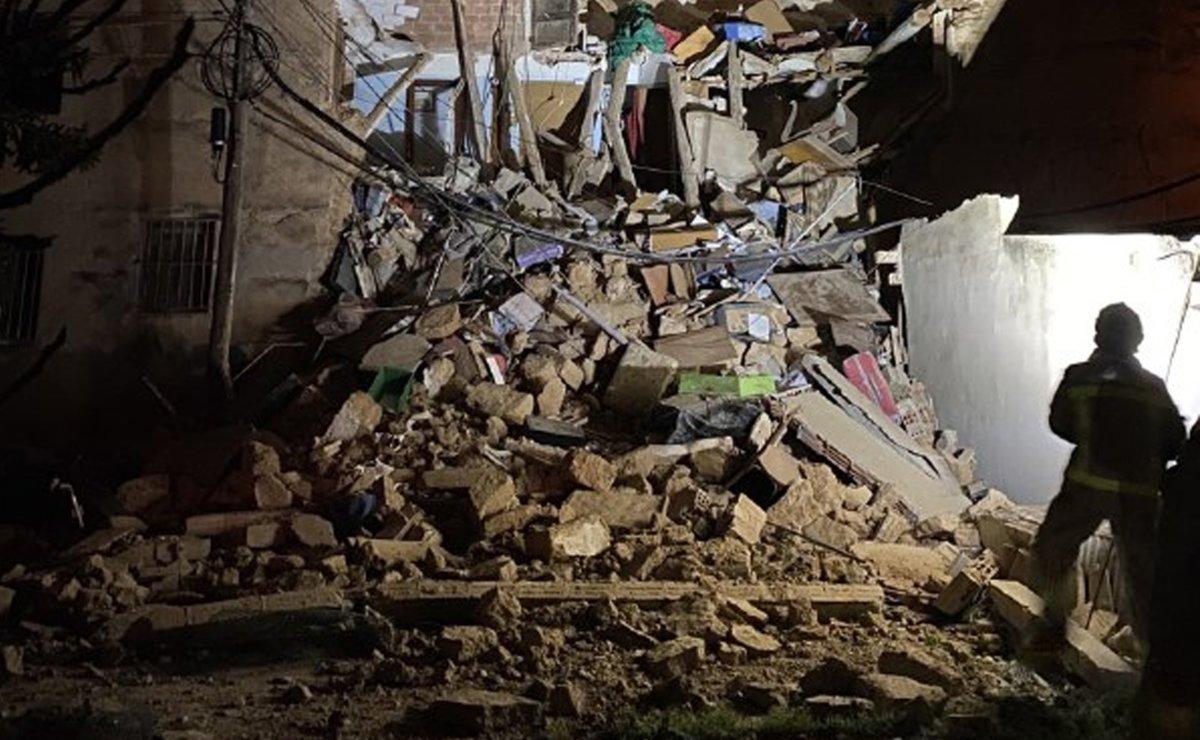 Estado de la vivienda tras el derrumbe en Sant Pere de Riudebitlles.