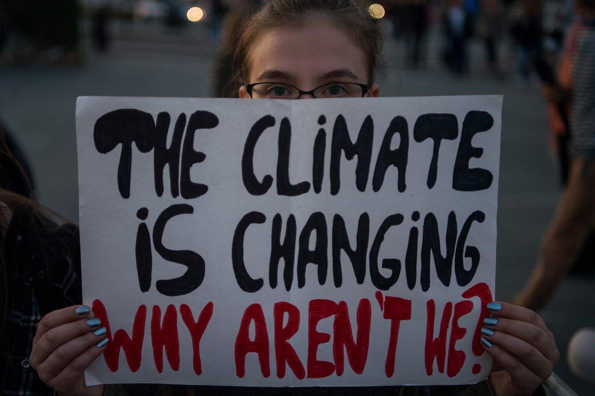 Huelga global para el clima de 2019, en Nueva York.