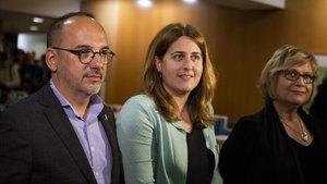 Carles Campuzano, Marta Pascal y Esperança Esteve.