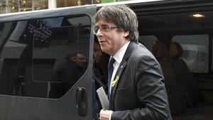Carles Puigdemont, el pasado 22 de diciembre en Bruselas