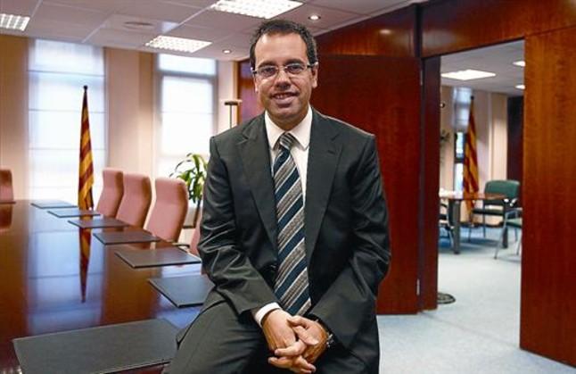 Carles Sala, en su despacho de la Conselleria de Territori i Sostenibilitat, en una foto de archivo.