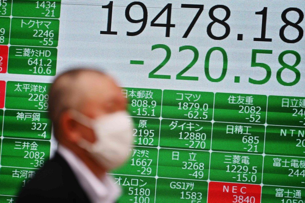 Elíndice japonés Nikkei experimenta caídas, por los temores ante el coronavirus y el crash del petróleo.