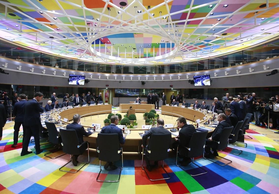 Los líderes de la Unión Europea (UE), reunidos durante el segundo día de la cumbre de primavera celebrada el pasado mes de marzo en Bruselas.