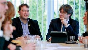 David Bonvehí y Carles Puigdemont