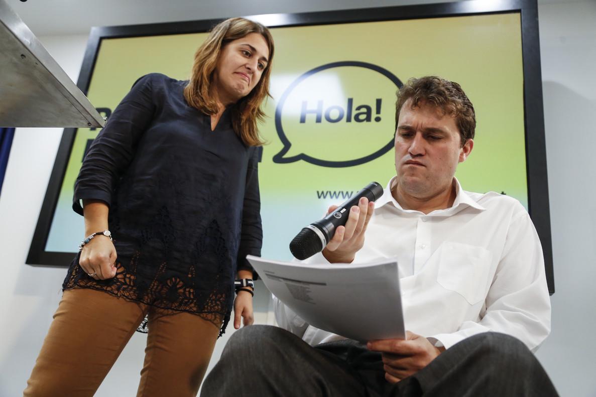 David Bonvehí, junto a Marta Pascal, en la sede del PDECat.