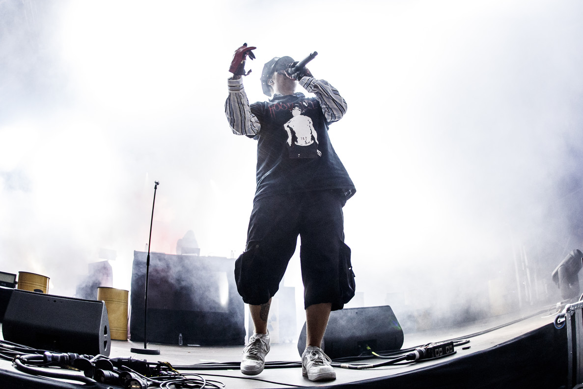BARCELONA, SPAIN - JUNE 15: Yung Lean performs on stage during Sonar Festival on June 15, 2018 in Barcelona, Spain. (Photo by Xavi Torrent/WireImage)
