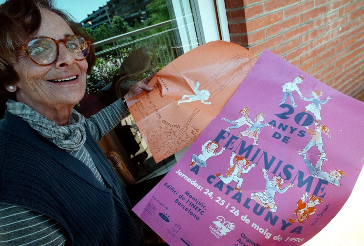 La dibujante Núria Pompeia, en el 1996