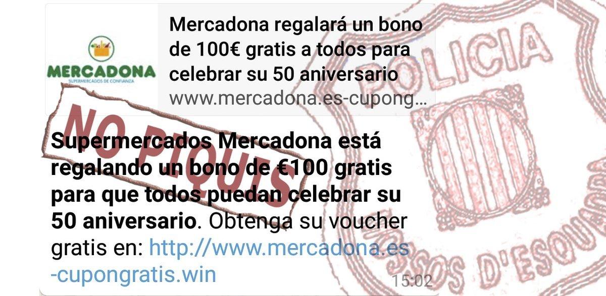 Mercadona no està regalant 100 euros pel seu 50è aniversari
