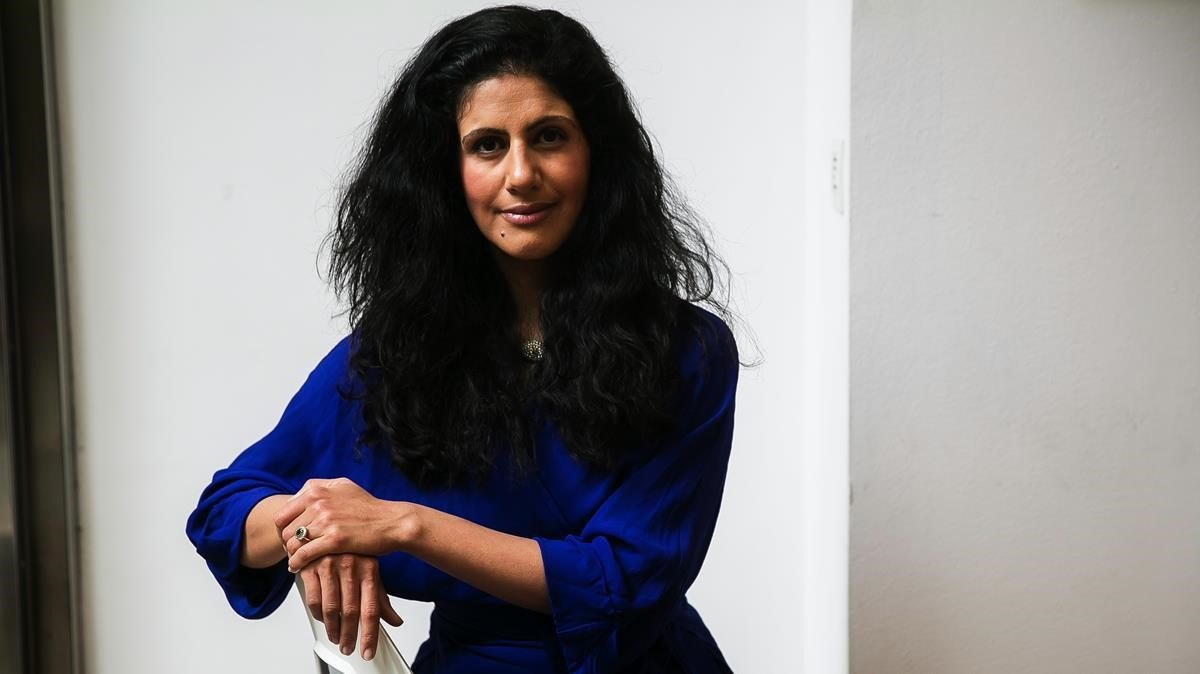 La escritora sueca de origen iraní Golnaz Hashemzadeh Bonde, en Barcelona.