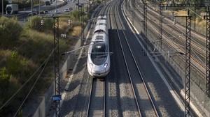 Un convoy de alta velocidad, en la zona de Sant Vicens dels Horts.