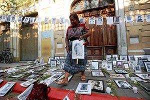 Protestas en Guatemalacontra la ley de amnistia en favor de militares.