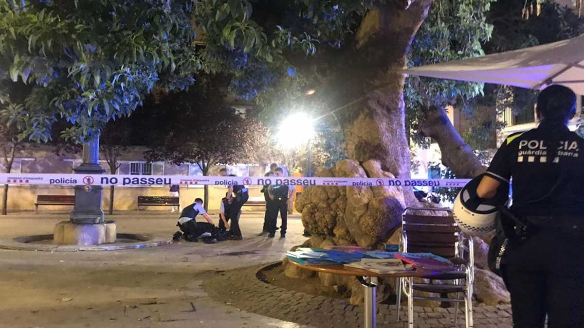 La Plaça Prim, donde ocurrió el tiroteo.