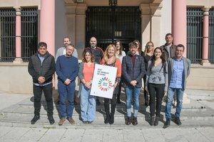 Los y las concejales del equipo de gobierno de Rubí, durante la presentación del Plan de mandato 2019-2023.