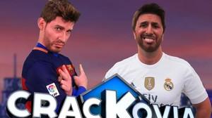 Imagen de Crackòvia, con Gerard Piqué (Albert Mèlich) y Sergio Ramos (Jordi Rios).