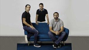 En la imagen, Pablo Blanes, Alejandro Sánchez y Joaquin Cuenca, cofundadores de Freepik Company.