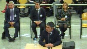 Imagen de la segunda jornada del juicio de Trapero que se celebra en la Audiencia Nacional.