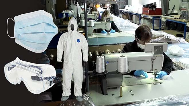 """Industria de guerra"" contra el virus: España fabricará material sanitario a gran escala."