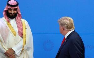 Donald Trump y Mohamed bin Salmán, durante la cumbre del G-20 de Buenos Aires, el 30 de noviembre del 2018.