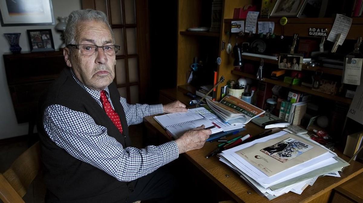 Mor als 88 anys el líder veïnal de Sants Anselm Cartañà