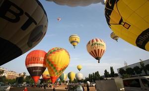 Imagen de archivo del Festival de globos aerostáticos en Igualada.