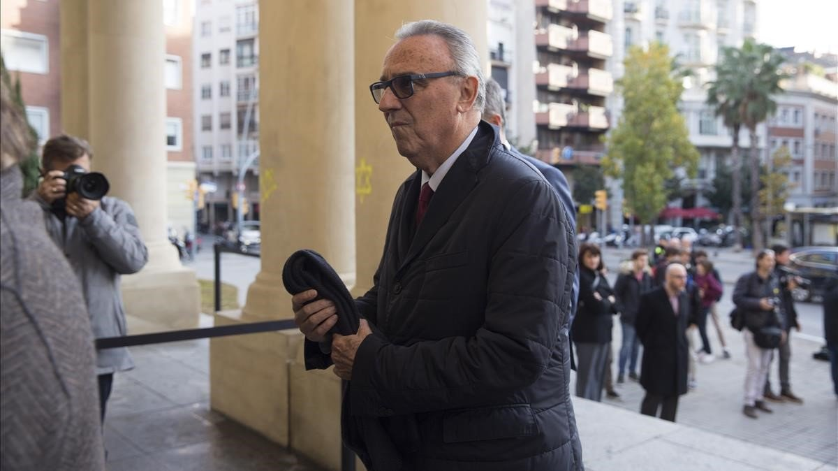 Joan Gaspart, el pasado día 5, en el sepelio por Josep Lluís Núñez.