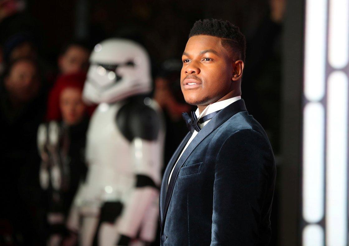 John Boyega, en la 'premier' de 'Star Wars: El último Jedi', en Londres, en diciembre del 2017.