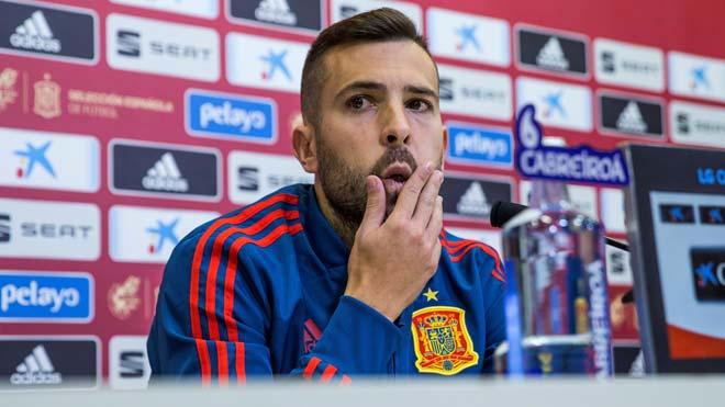 Declaraciones de Jordi Alba en las que sostiene:Nunca he dicho nada malo de Luis Enrique.