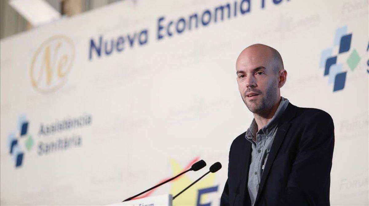 Juan de Antonio, fundador y consejero delegado de Cabify, en Barcelona.