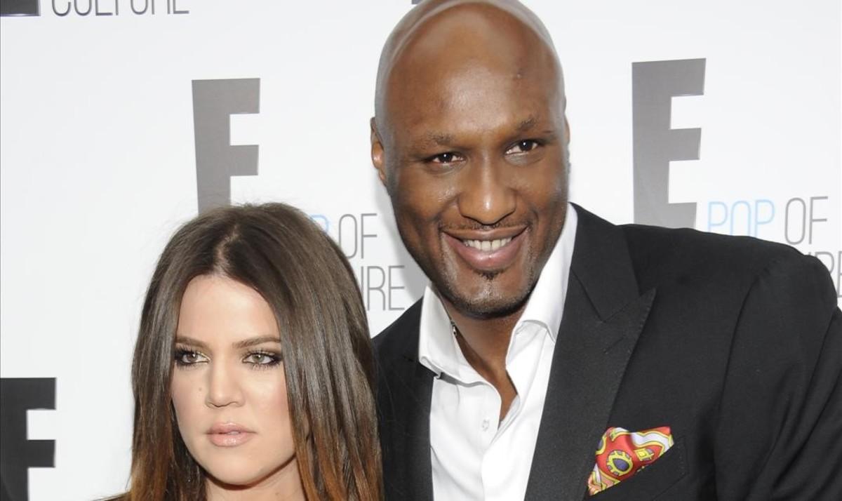 Lamar Odom (exjugador de Los Ángeles Lakers)junto a su exmujer Khloe Kardashian.