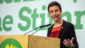 La candidata a presidir la Comisión Europea por Los Verder, Ska Keller.