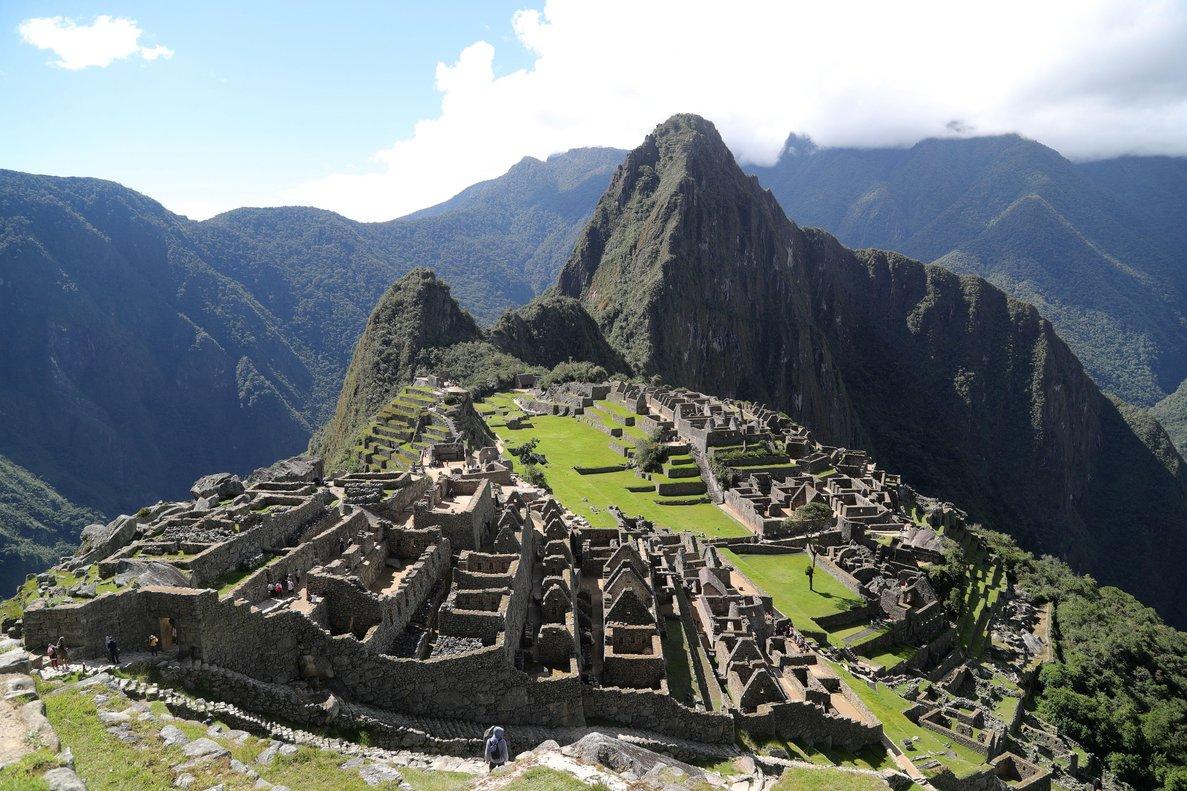La ciudadela de Machu Picchuen la region surandina del Cusco,Peru.