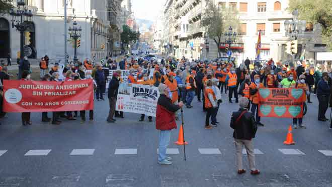 Manifestación de Marea pensionista en Barcelona.