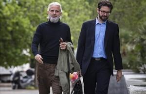 Marcos Benavent, a su llegada a la Ciudad de la Justicia de Valencia, este jueves.