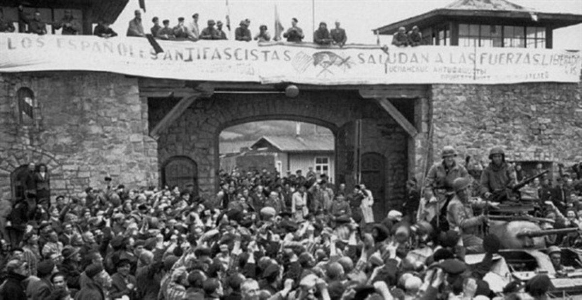 Españoles del campo de concentración de Mauthausen.