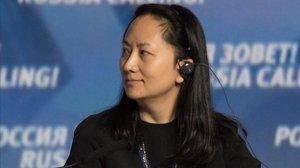 Meng Wanzhou, en una sesión del Foro de Inversión de Capital de VTB, en Moscú, el 2014.