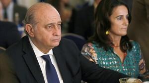 El ministro del Interior, Jorge Fernández Díaz, en un acto este miércoles en Madrid.