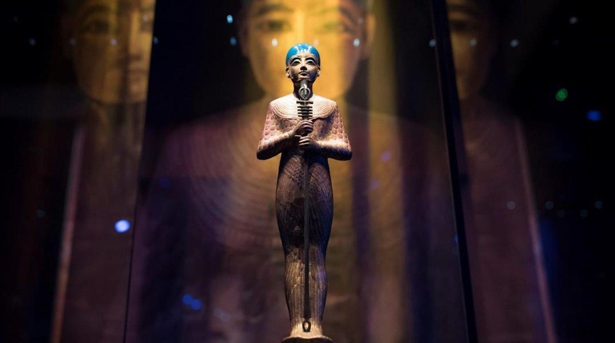 Muestra sobre Tutankamón en París.