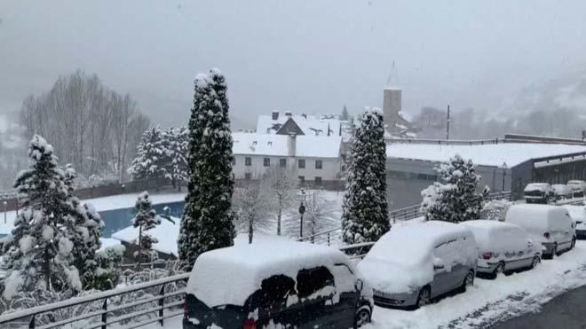 Nieve en el Pirineo antes de Semana Santa.