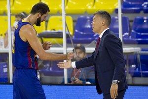 Nikola Mirotic y Sarunas Jasikevicius, dos de los pilares de la ambiciosa apuesta del Barcelona