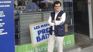 Oriol Vives Fayos franquiciado de una pepeleria de Bureau Vallée en Sabadell.