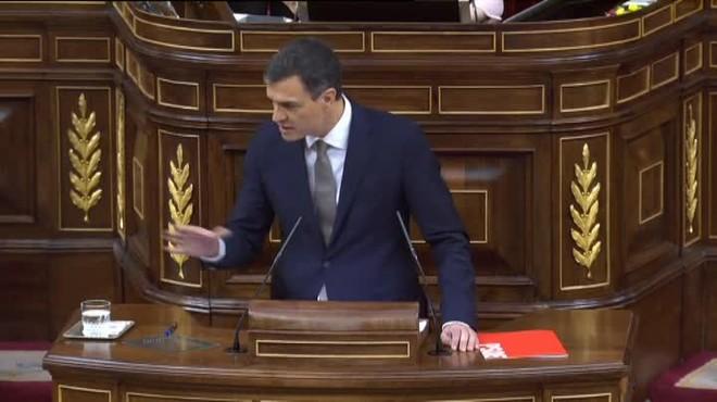 Pedro Sánchez exhorta a Rajoy a dimitir para que decaiga la moción de censura