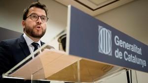 Pere Aragonèsen rueda de prensa ofrecida ayer en el Centro Cultural Blanquerna, en Madrid.