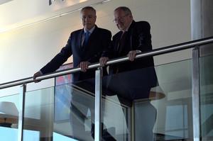 En la imagen, Pere Navarro y Josep Lluis Bonet