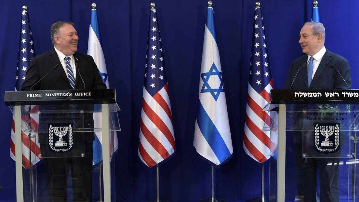 Pompeo llega a Israel para reunirse con el primer ministro Benjamin Netanyahu.